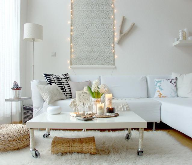 Un salon blanco y natural decorar tu casa es - Deco interieur wit ...