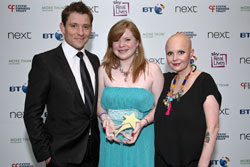 Award Winner Caroline Shorthouse with Ben Shephard and Gail Porter