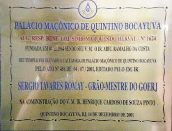 Denominação de Palácio Maçônico de Quintino Bocaiuva