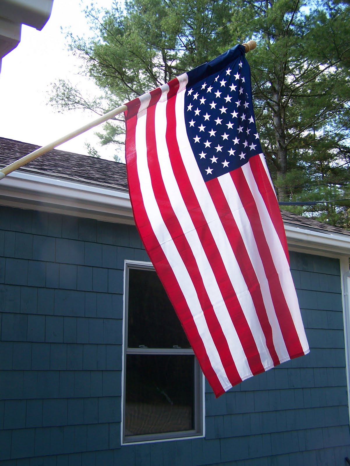 My American flag on my porch