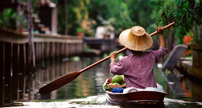 Bing Image Floating Market, Damnoen Saduak floating market, Thailand , Bing Wallpaper