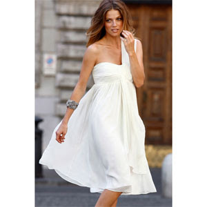 white cocktail dress, white dress
