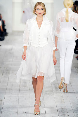 white shirt suit, ralph lauren spring summer 2010