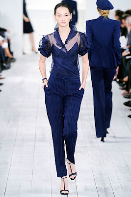 ladies pinstripe trousers, ralph lauren spring summer 2010 collection