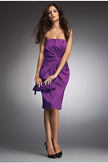 Nicholas Millington purple evening dress