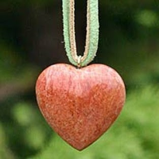long leather heart necklace