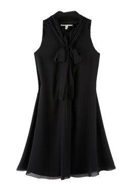 twenty8twelve black monette a line silk dress