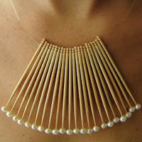 Anniversary gifts for women, Fan Necklace by Mana Bernandes, eco jewellery, recycled jewellery