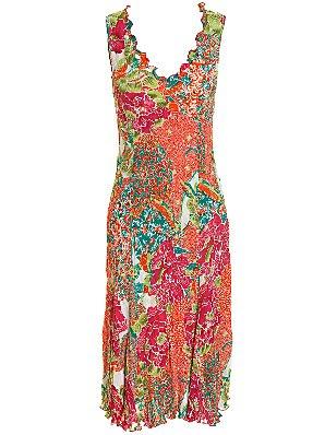 East Surabaya Sleeveless Dress, Multicoloured Dress,Ruffle Dresses, Frill Dresses