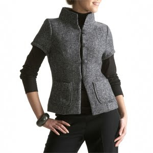 Ladies workwear, short sleeve jacket
