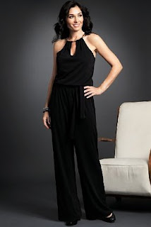 new year party wear, black jump suit
