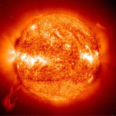 Close up of the sun... Yeah its big.