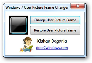 Trik Cara Mengganti Frame Photo User Account Windows 7
