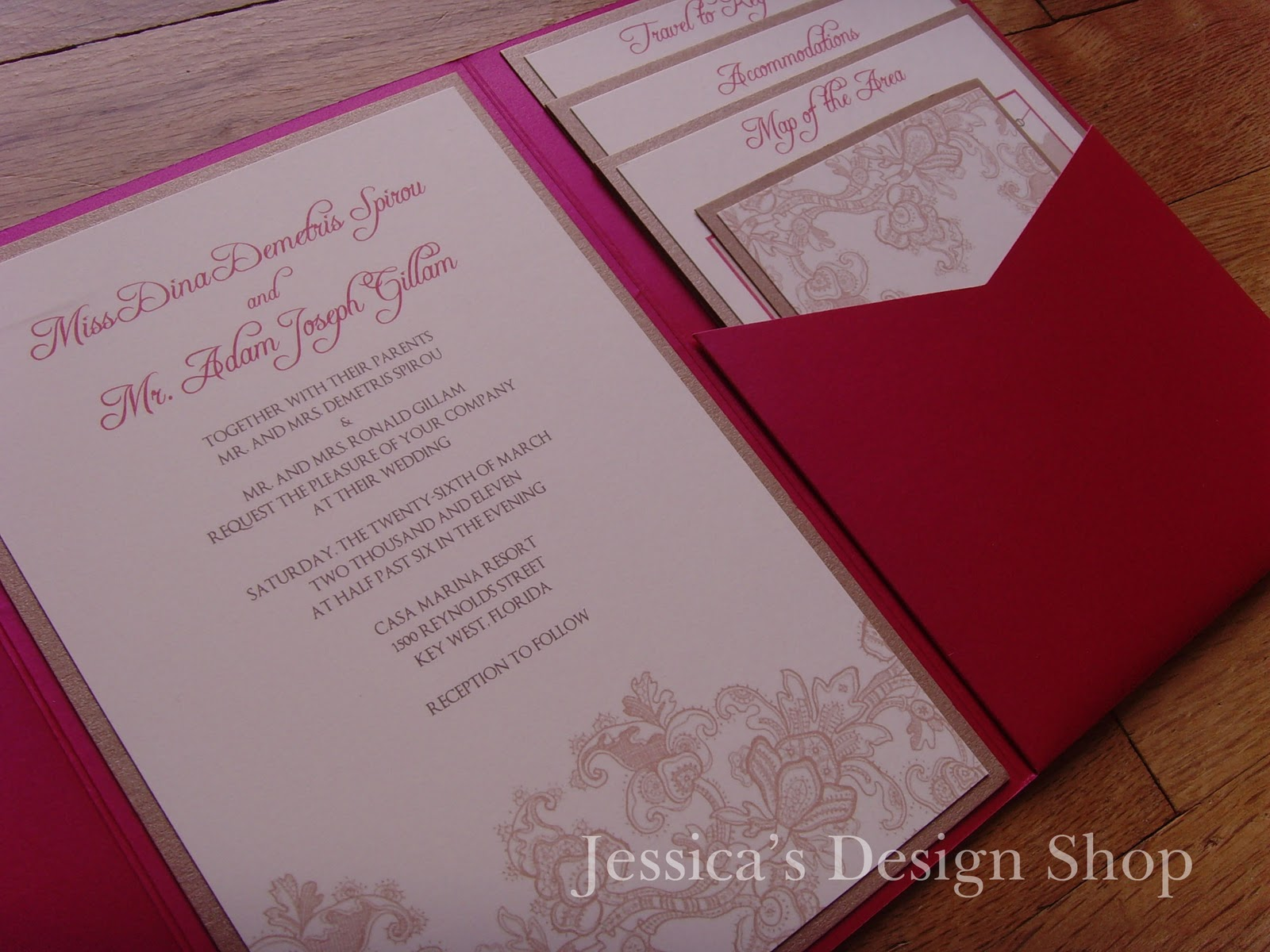 Jessica\'s Design Shop: Milene Style Pocketfold Wedding Invitation
