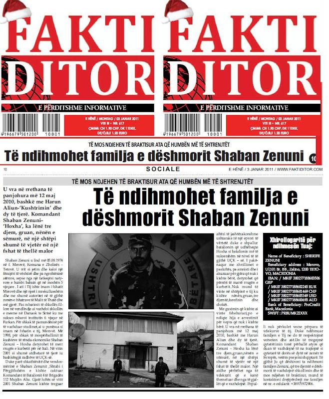 Apeli ne Fakti Ditor 3 janar 2011 (E perditshme informative per diasporen shqiptare)
