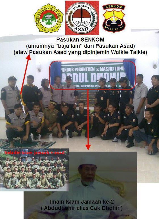 ... ke-2, Abdudhohir / Cak Dhohir ... LDII = SENKOM = ASAD = Islam Jamaah