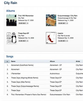 City Rain on ITUNES