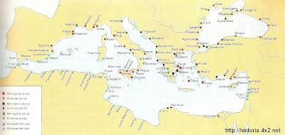 Colonizaciones griega y fenicia