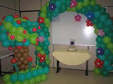 Curso decoração com balões