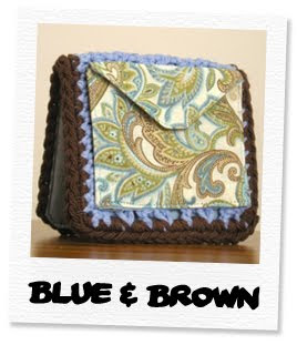 blue & brown wallet