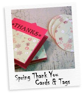 spring thank you mini cards & tags
