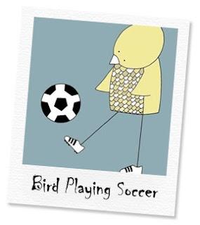 bird playing soccer