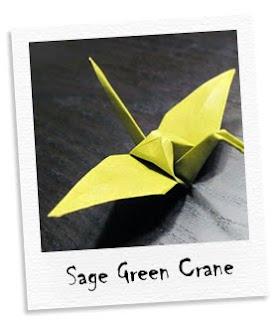 sage green cranes