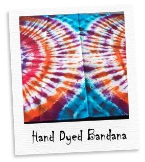 hand dyed bandana