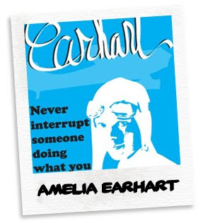 amelia earhart bookmark
