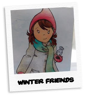 winter friends card