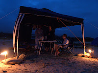 Camping Fins beach