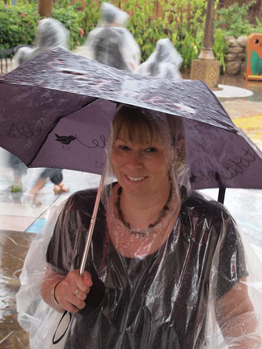 Universal Studios Sentosa Singapore rain
