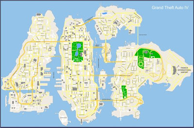 of the map on gta 4