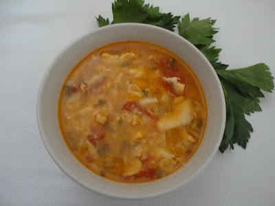 Zupa łososiowa z kluseczkami