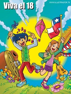 Dibujos de Huasos Chilenos Bailando Cueca para colorear (www