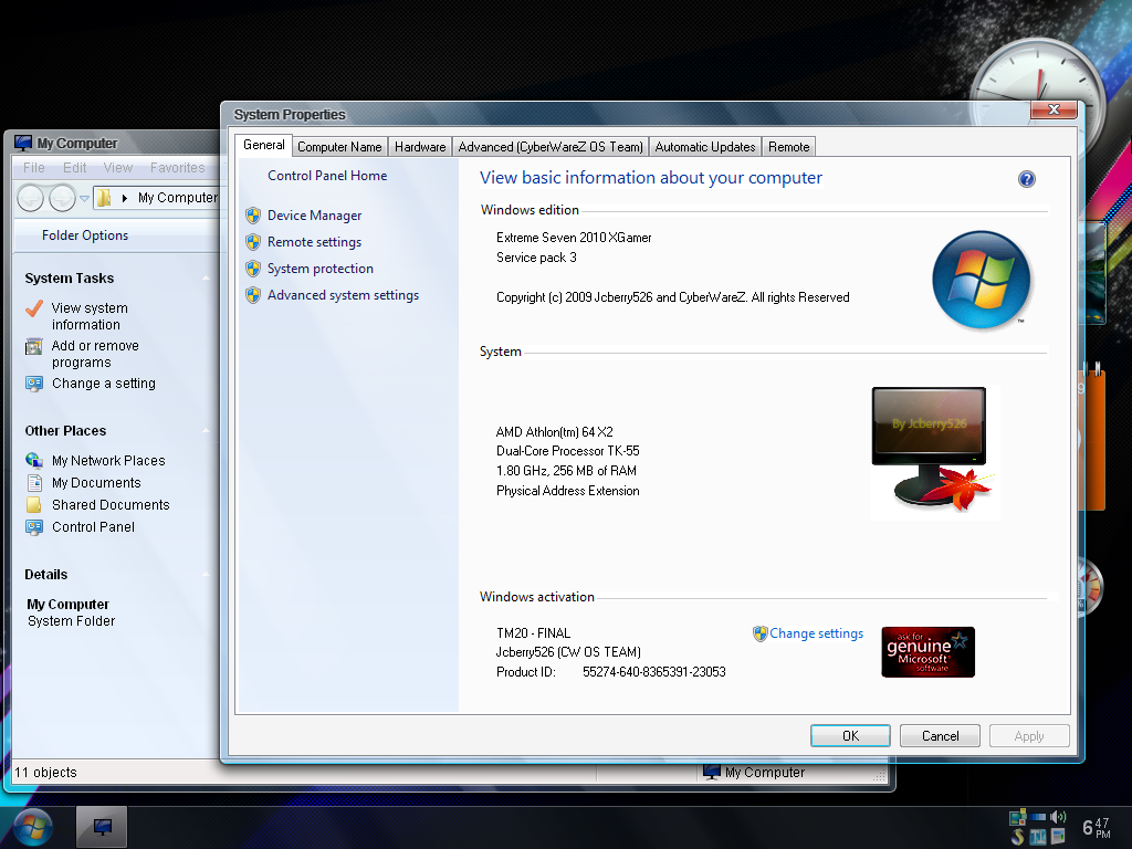 windows xp seven ultimate royale sp3 2010 iso