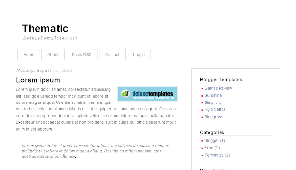 Thematic Blogger Template