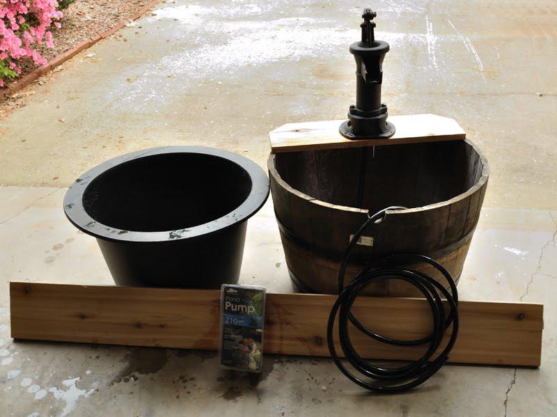 diy hand pump water feature