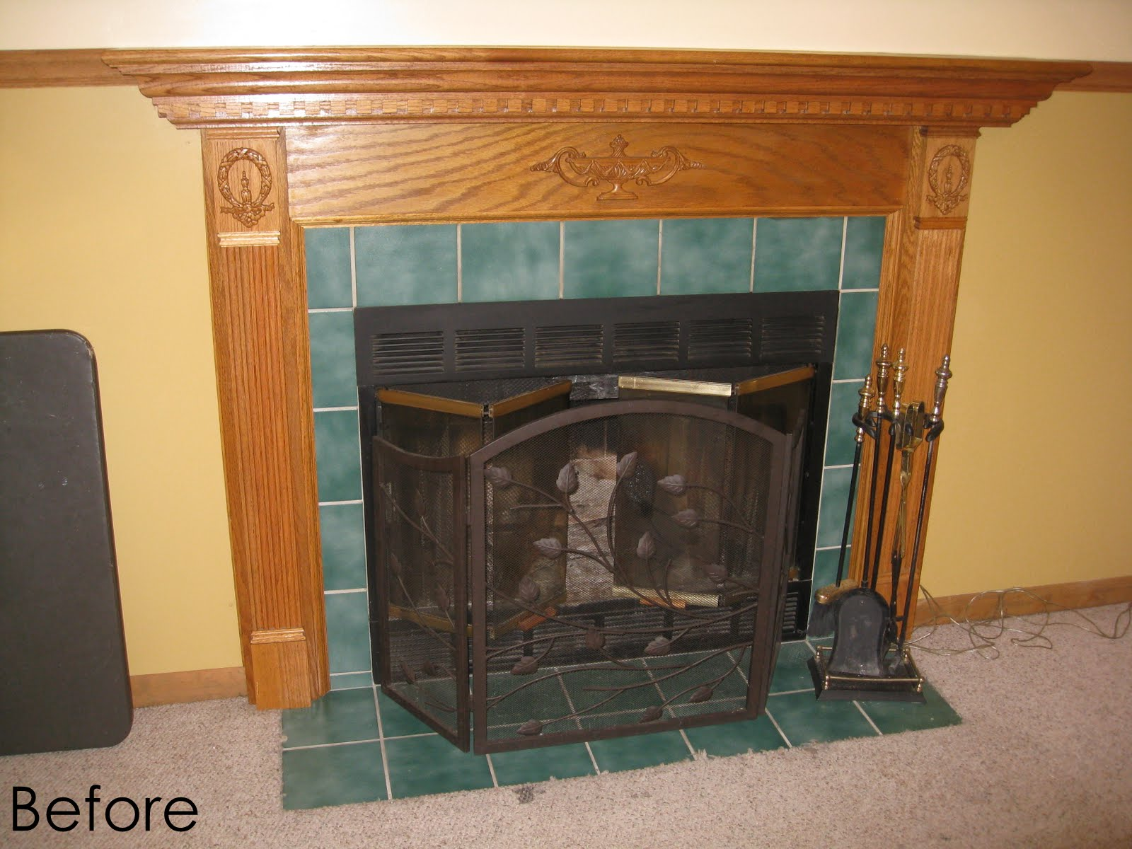 this is a from when we moved into the houseu2026 fireplace - How To Build A Fireplace Surround