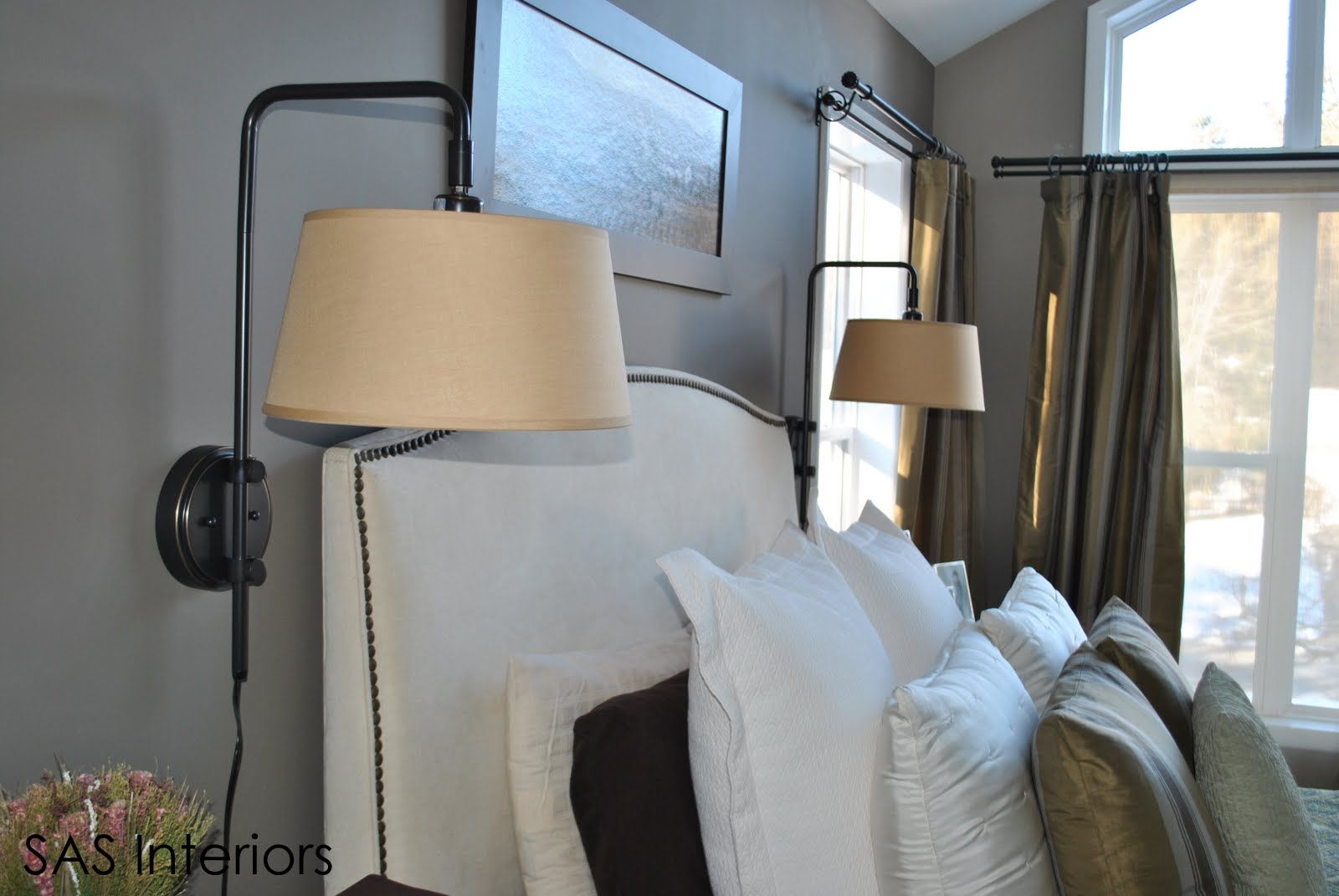 Wall Sconces In Bedroom : Dealing with a Design Dilemma and Creating a Smart Solution: Wall Sconces - Jenna Burger
