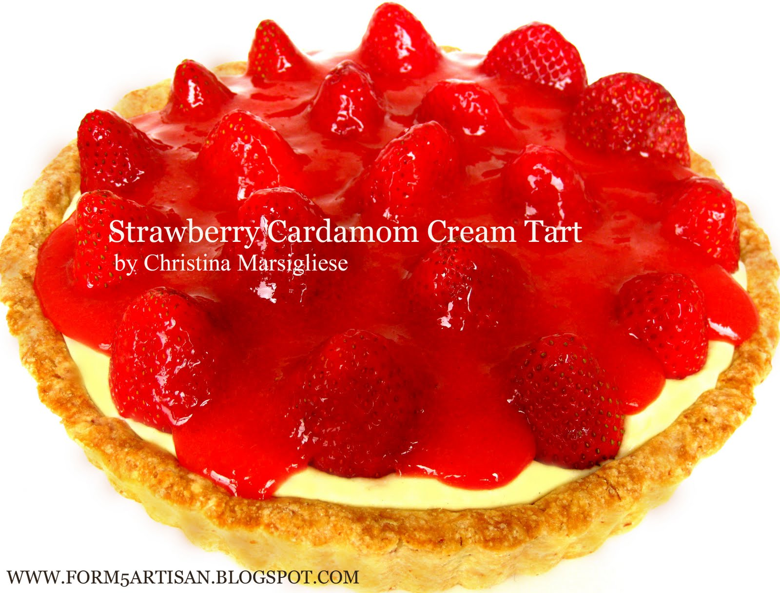 Scientifically Sweet: Strawberry Cardamom Cream Tart