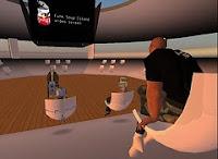 Afbeelding van een collegezaal in Second Life