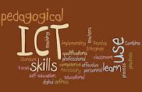 afbeelding van een woordenwolk over ict in de les