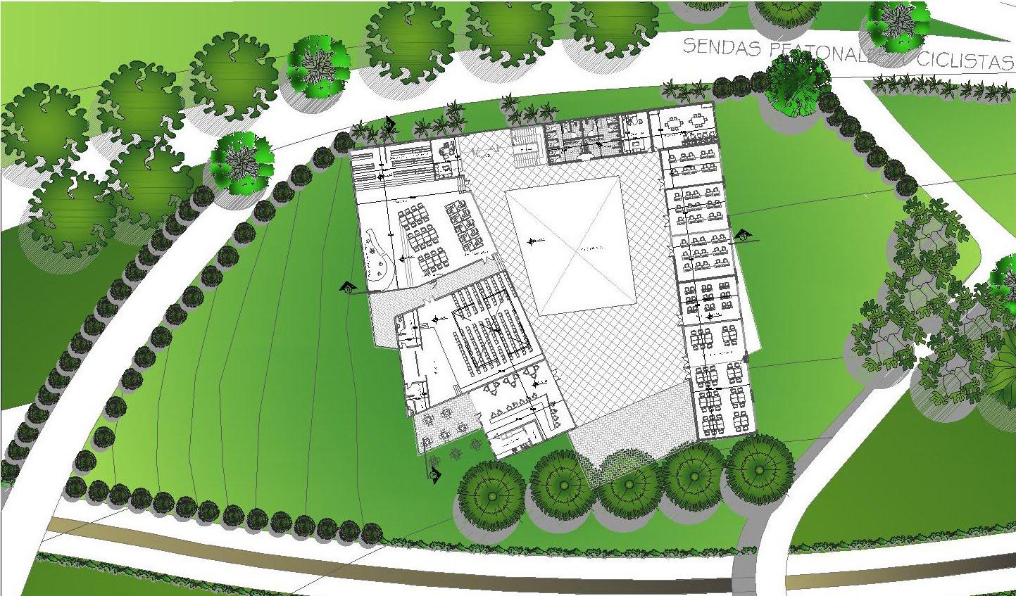 Arq arte don arte escuela de artes y oficios for Plantas de colegios arquitectura
