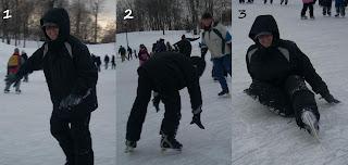 Mauri cae patinando sobre hielo