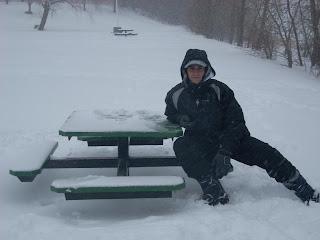 Mauri en el parque