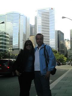 Apenas llegamos en un paseo por la city