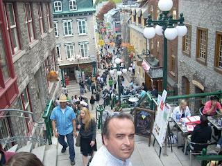 La calle Petit-Champlain muy pintoresca