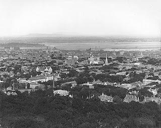 Montreal desde el mirador a principios de siglo