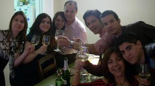 Todos juntos para el brindis